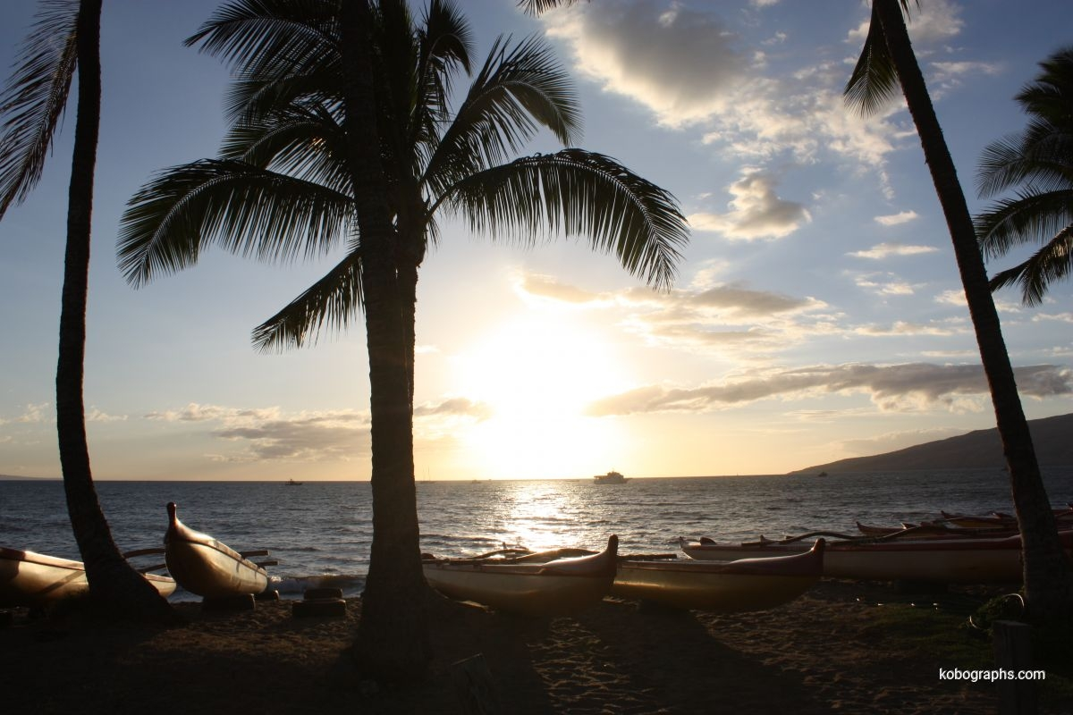 Kihei Canoe Club Beach sunset