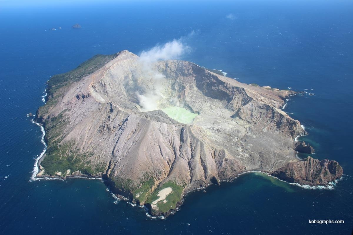 White Island seen from the helicopter